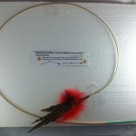 Red Pheasant feather toy