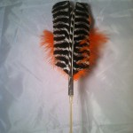 replacement lure feather turkey wing orange