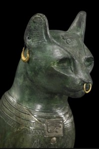 cat worshipping bastet
